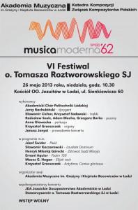 plakat 62. Musica Moderna
