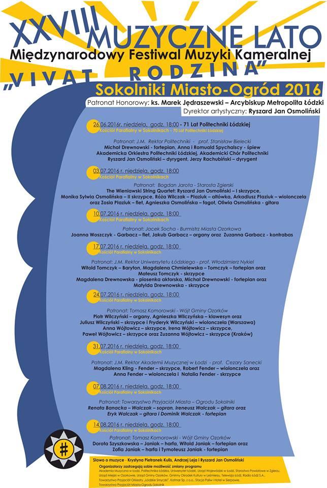 XXVIII Muzyczne Lato w Sokolnikach
